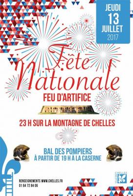 Feu d'artifice du 14 Juillet 2017 à Chelles