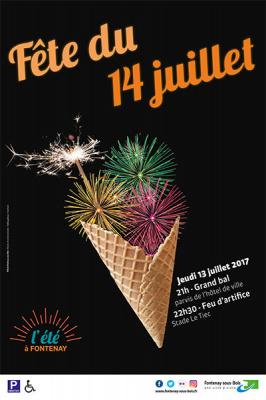 Feu d'artifice du 14 juillet 2017 à Fontenay-sous-Bois