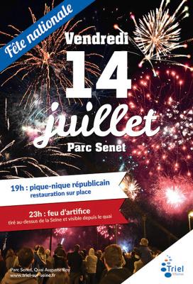 Feu d'artifice du 14 juillet 2017 à Triel-sur-Seine