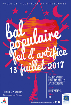 Feu d'artifice du 14 Juillet 2017 à Villeneuve-saint-Georges