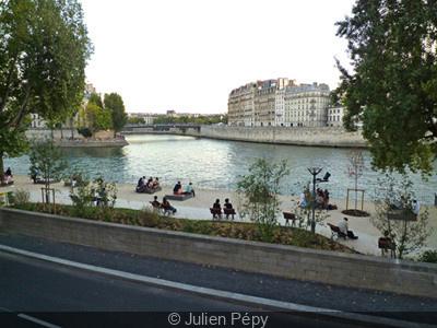 Les nouvelles berges de Seine