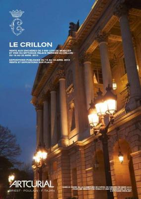 Le Crillon, vente aux enchères