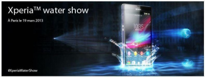 Le Xperia Water Show à Paris