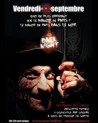 La Dark Night du Manoir de Paris