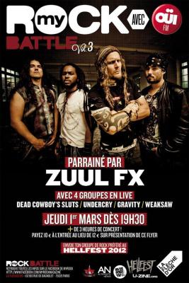 MyROCK BATTLE Vol.3 avec ZUUL FX