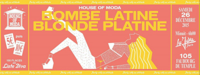 HOUSE OF MODA BOMBE LATINE / BLONDE PLATINE