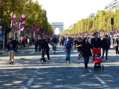 Champs-Elysées sans voiture