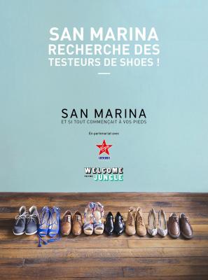 Devenez testeuse de souliers pour San Marina