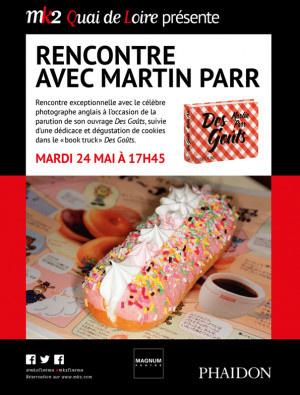 Rencontre avec Martin Parr au MK2 Quai de Loire