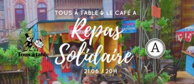 Repas solidaire au Café A