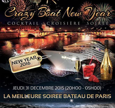 CRAZY BOAT CROISIERE VIP NEW YEAR 2016