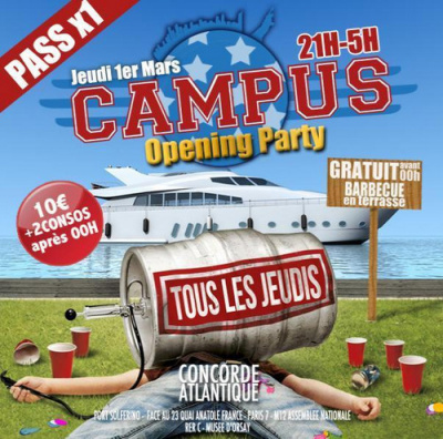 CAMPUS - OPENING PARTY