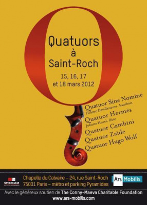 Quatuors à Saint Roch
