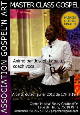 Master Class GOSPEL -Association GOSPEL'N ART
