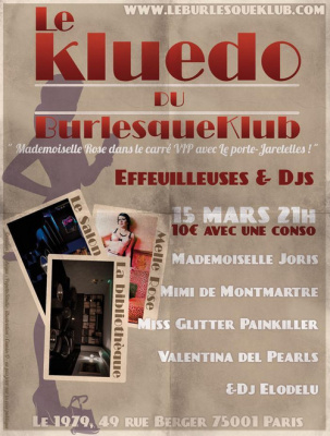 Le Kluedo du Burlesque Klub