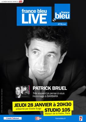 Patrick Bruel en concert privé pour France Bleu Live