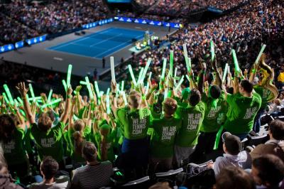 """La """"We are tennis Fan Academy"""" 2016 de BNP Paribas à Roland Garros"""