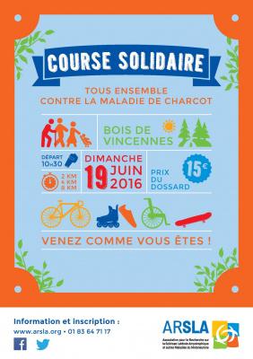 1ère course contre la Maladie de Charcot au Bois de Vincennes