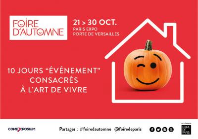 Foire d'automne 2016 à la Porte de Versailles : Gagnez vos places !