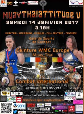 France vs Belgique pour le Gala Muay Thai Attitude