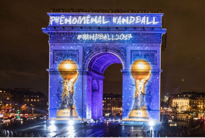 Une animation ph nom nale pour la coupe du monde de handball paris - Coupe du monde du handball 2015 ...