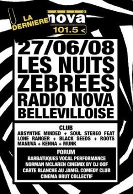 Concert, Paris, Nuit Zébrée, Radio Nova, Bellevilloise