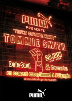 Soirée, Silent Gesture, Paris, Olympia, Tommie Smith, Puma