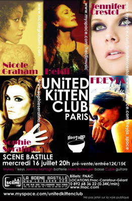 Paris, Concert, Scène Bastille, The United Kitten Club