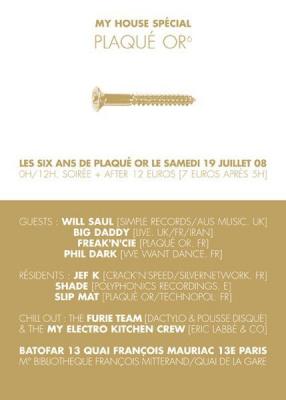 soirée, concert, clubbing, paris, batofar, Plaqué Or