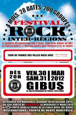 Festival Rock Inter-régions - Sélections Île-de-France