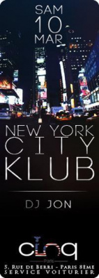 NEW YORK CITY KLUB @ LE CINQ