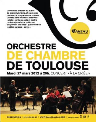 """Concert """"à la Criée"""" de L'Orchestre de Chambre de Toulouse"""