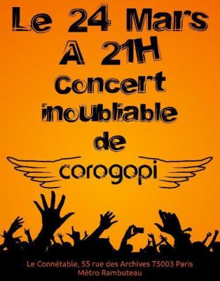 Corogopi en concert