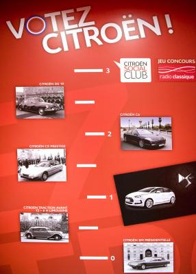 Les Citroën présidentielles au C_42 des Champs Elysées