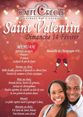 Soirée St-Valentin Dimanche 14 février au Caffe Créole restaurant Paris Bastille