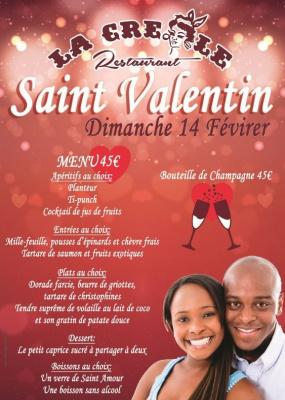 Soirée St-Valentin au restaurant La Créole Paris 14