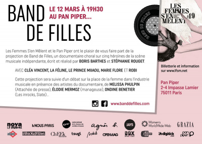 """LES FEMMES S'EN MELENT PRESENTENT """"BAND DE FILLES"""""""