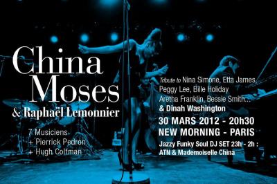China Moses & Raphael Lemonnier Quintet invitent Hugh Coltman & Pierrick Pedron