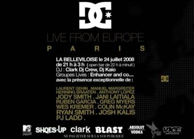 Soirée, Paris, Clark, DC Live, Europe, Bellevilloise