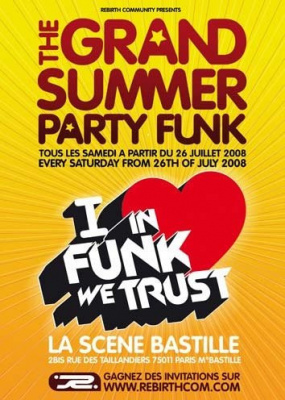 Soirée, Paris, Ete, Grand Summer Party Funk, Scene Bastille