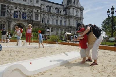 Sports, Loisirs, Paris, Eté, Paris Plages, Hotel de ville