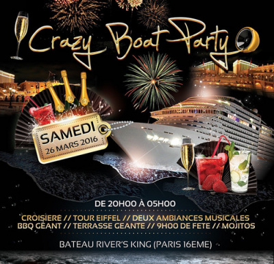 CRAZY BOAT PARTY CROISIERE TOUR EIFFEL