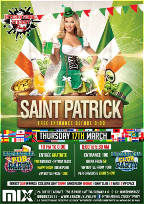 International Student Party - Saint Patrick's day