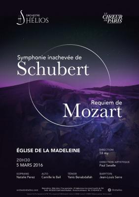 Requiem de Mozart, Schubert Inachevée