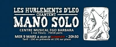 Les Hurlements d'Léo chantent Mano Solo