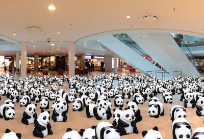 Des pandas s'installent à Beaugrenelle Paris