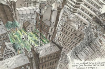 Un puzzle BEAUtanique géant sur la Place de l'Hotel de Ville