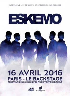 ESKEMO en concert le 16 avril à Paris - Le Backstage By The Mill