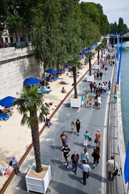 Les bords de Seine pour Paris plage