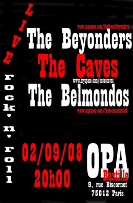 Concert, Paris, The Belmondos, The caves, The Beyonders, OPA